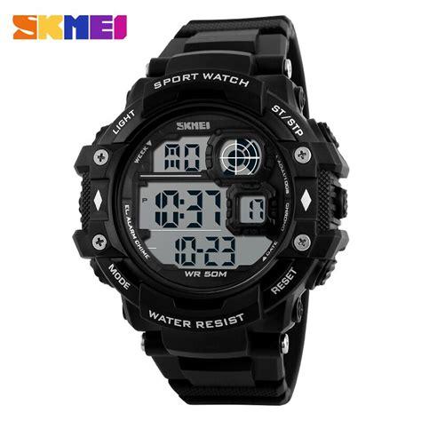 Jam Tangan Pria Skmei Type 1118 skmei jam tangan digital pria dg1118 black white