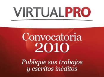 revista virtualpro login comunicacion cientifica convocatoria para la publicaci 211 n