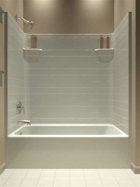 one bath shower tt 603374 l tub showers