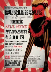 diy printable burlesque bachelorette party invitation
