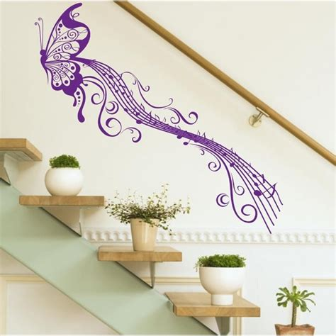 wall stickers notes butterfly note wall sticker easy peel and stick