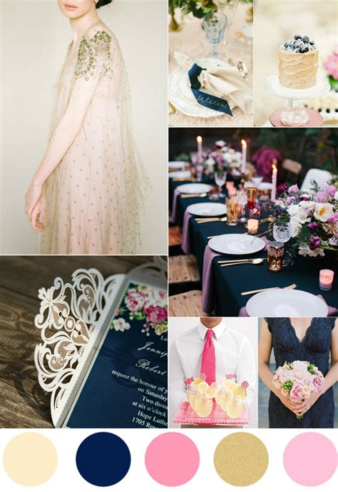 7 amazing and gold wedding color palettes