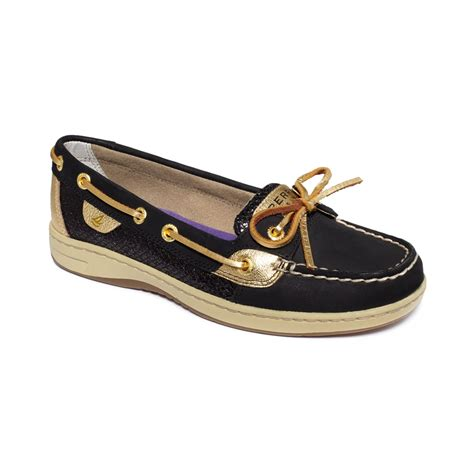 glitter sperry boat shoes sperry top sider women s angelfish boat shoes in black
