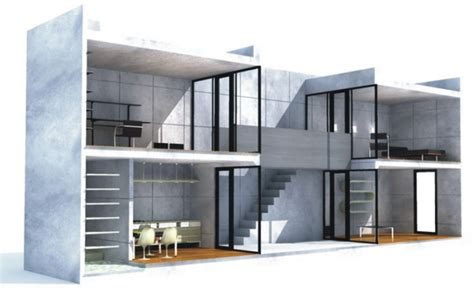 tadao ando row house courtyard house designs azuma house by tadao ando