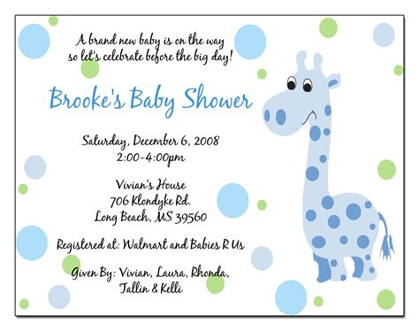 baby shower announcements templates wording for baby shower invitations template best