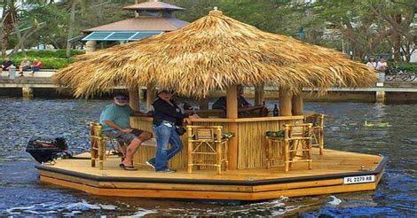 tiki hut boat johns pass cruisin tiki boat the gifts guy pontoon ideas