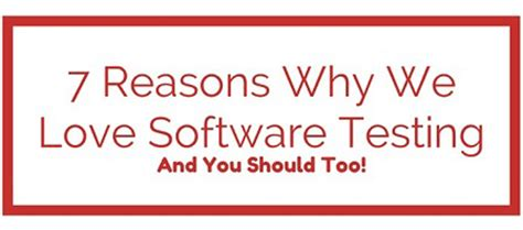 Why Should We Admit You Into Our Mba Program Answers by 7 Reasons Why We Software Testing Qualitest