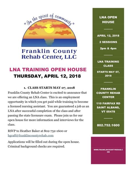 Franklin County Vt Detox by About Our Facilities At Franklin County Rehab Center