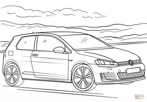 volkswagen car coloring page disegno di volkswagen golf gti da colorare disegni da