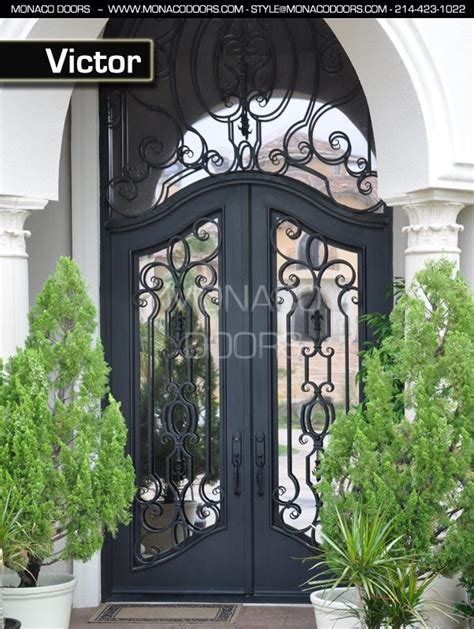 Glass And Iron Doors Exterior Front Doors Exterior Wood Doors Monaco Doors Custom Wrought Iron Doors St Paul