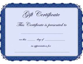 Free Gift Certificate Templates Printable Blank   ClipArt