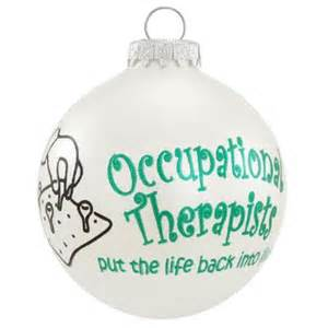occupational therapists glass ornament occupations