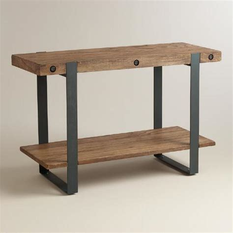 world market sofa table rustic skylar console table world market