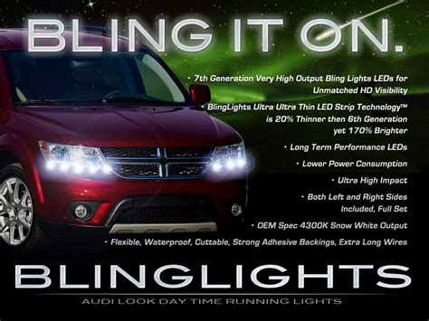 dodge journey led lights dodge journey led drl light strips day time running
