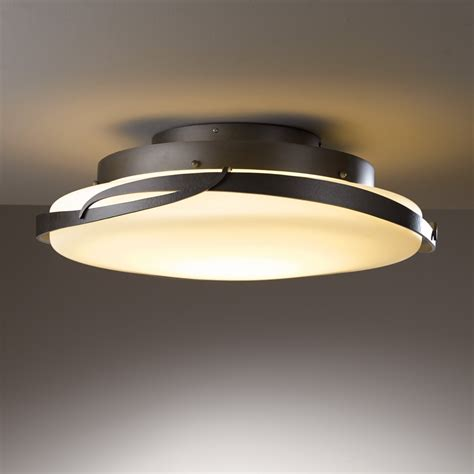 Ceiling Mount Light Fixtures Hubbardton Forge 126742 100 Flora Led Semi Flush Mount Ceiling Light The Mine