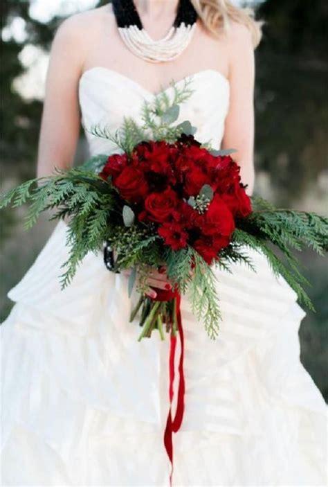 red  green scandinavian winter wedding ideas deer