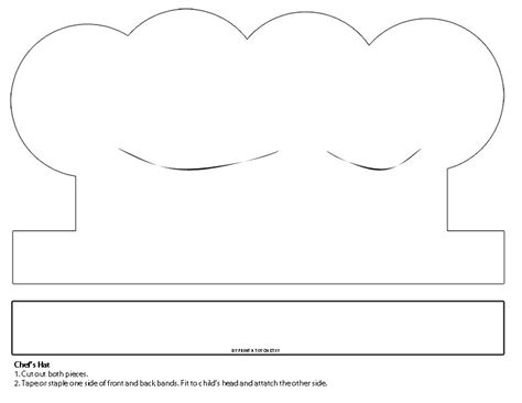 chef hat printable template printable white paper chef s hat instant digital
