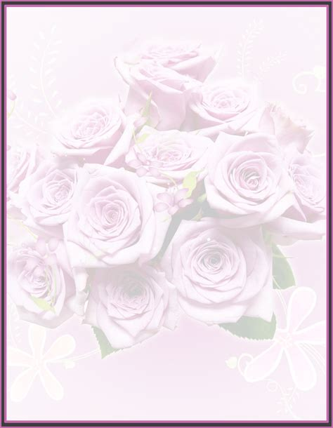 printable stationary with roses free roses stationery free printable roses background