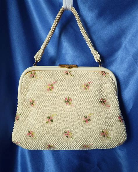 beaded purses vintage beaded reversible purse from manderlyestates on