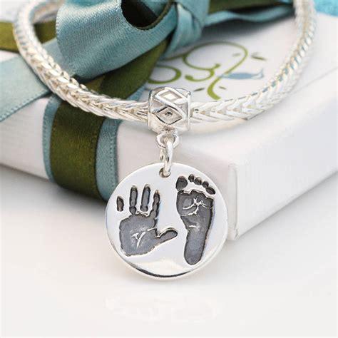 handprint and foorprint pandora style charm by green river