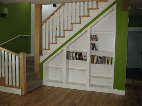 Chic Living Room Under The Stairs Design Of Home Design Shelves Stairs
