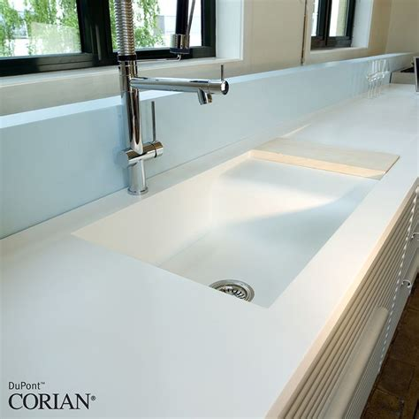White Corian Sink 17 Best Images About Countertops On Wood