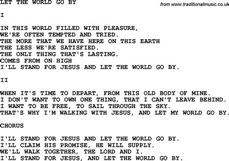 printable lyrics let it go country southern and bluegrass gospel song let the world