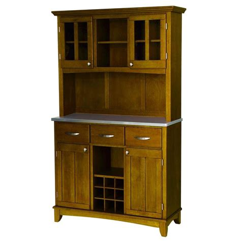 home depot kitchen casual cottage home styles three drawer 44 in w cottage oak buffet with