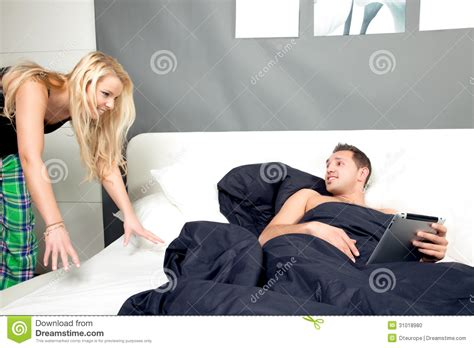 Lying In Bed All Day by Lying In Bed On A Lazy Day Stock Photo Image