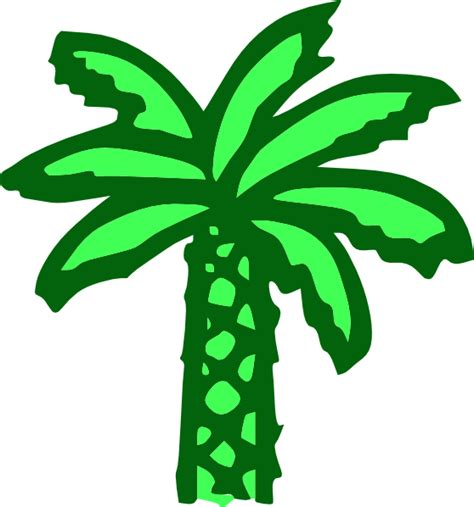 cartoon green palm tree clip art  clkercom vector
