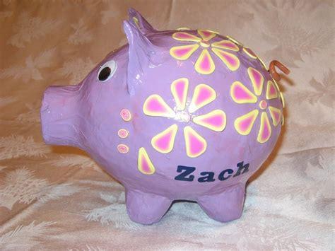 How To Make Paper Mache Piggy Bank - zach s paper mache piggy bank stuff