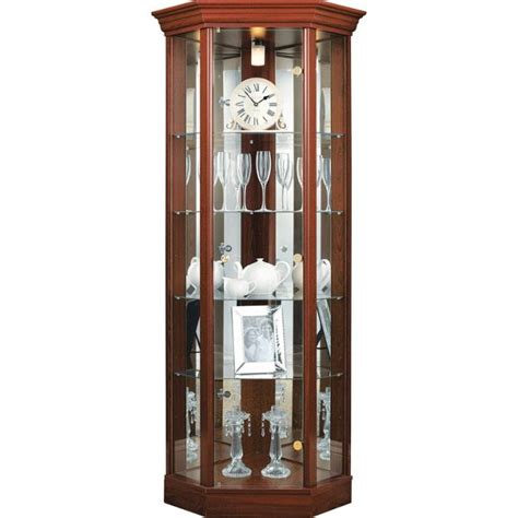 Glass Display Cabinet Argos by Buy Home Corner Glass Display Cabinet Mahogany Effect At