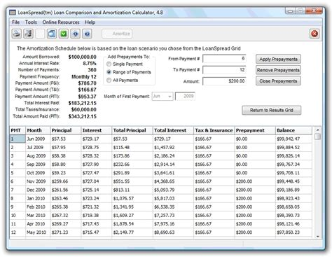 search results for loan calculator amortization schedule