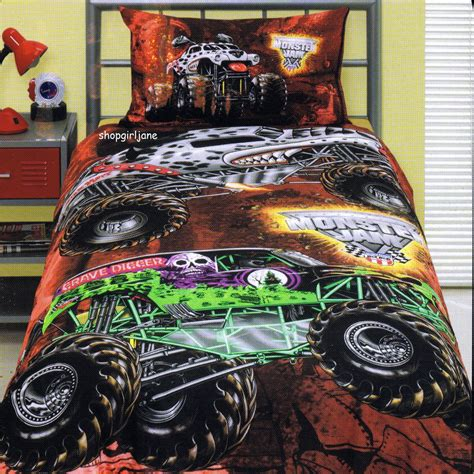 monster truck bed set monster jam trucks grave digger mutt maximum d twin