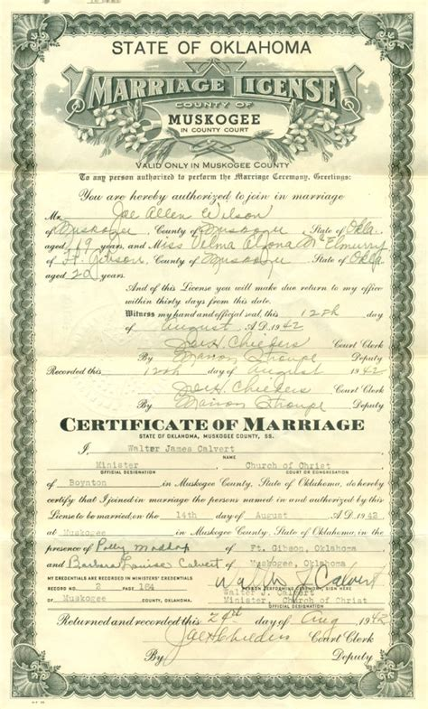 Best Website For Marriage Records Copy Of Marriage Certificate Oklahoma Best Design