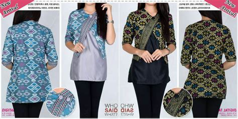 Fashion Wanita Atasan Blouse fashion blouse batik scarf blouse top