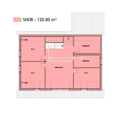 comment calculer la surface d une chambre surfaces shob shon et habitable cas pratique en images