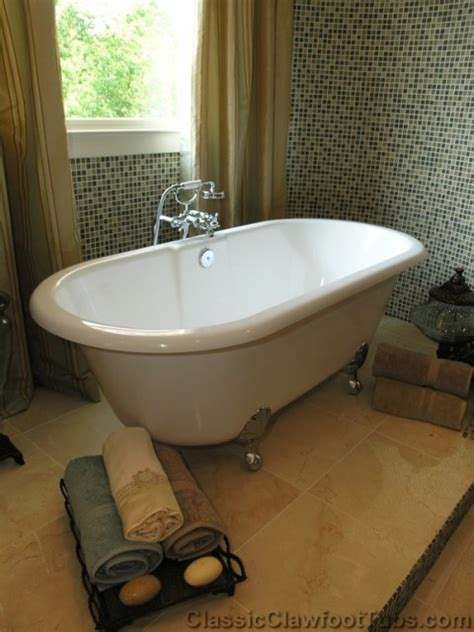 bathtubs sacramento double ended clawfoot tub on a platform traditional