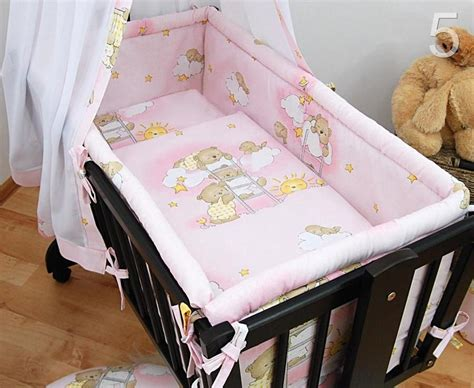 5 crib baby bedding set 90 x 40 cm fits rocking