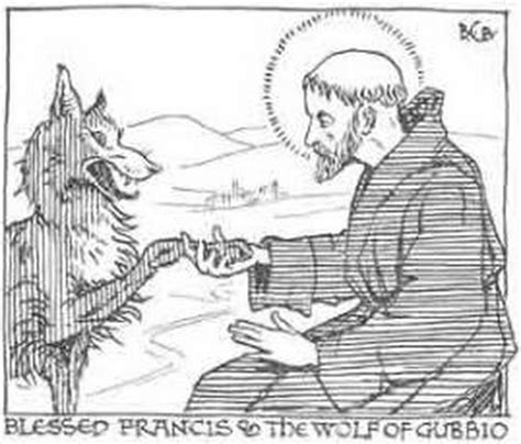 free st francis of assisi coloring pages