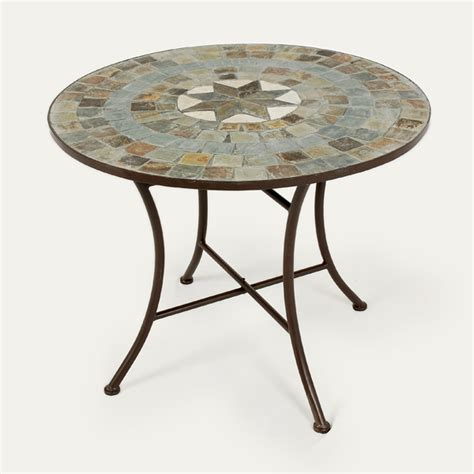 Mosaic Patio Table Ellister Zurich Mosaic Patio Table 80cm On Sale Fast Delivery Greenfingers