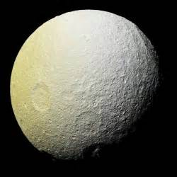what color is the moon space images the colors of tethys i