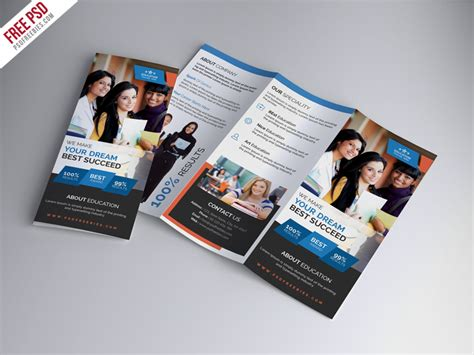 free templates for educational brochures university education tri fold brochure psd template