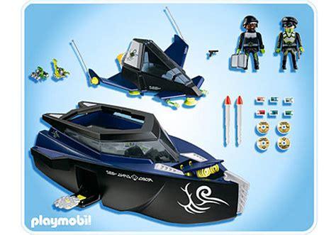 playmobil secret agent boat robo gangster turbokfschiff 4882 a playmobil