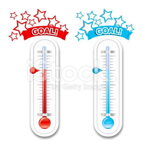 Charity Thermometer Template by Fundraiser Goal Thermometers Royalty Free Stock Vector