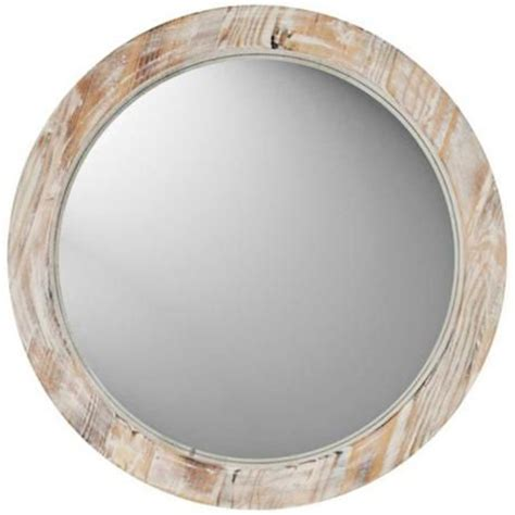 small round bathroom mirrors round 19 quot washed wood wall mirror w1180 lsplus com