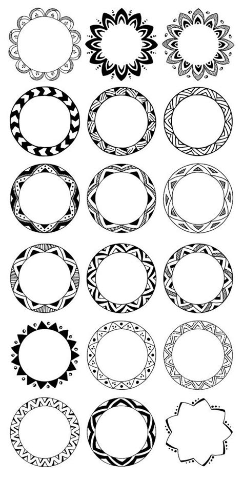 Cornici Tribali - 36 decorative frames circle borders