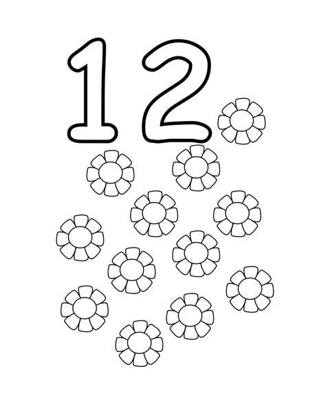 Coloring Pages For 12 And Up Free Printable Number Coloring Pages For Kids