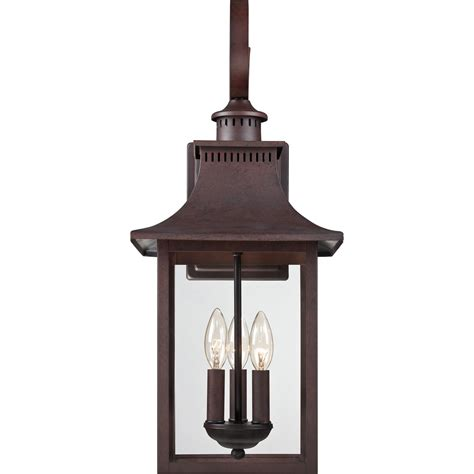 Copper Outdoor Lighting Fixtures Chancellor Copper Bronze 23 5 Inch Three Light Outdoor Fixture Quoizel Wall Mounted