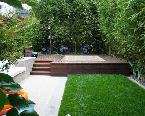 small backyard with hot tub contemporary landscape small garden design ideas bamboo